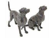 Dog Bronze Sculptures