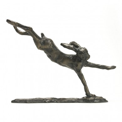 Bronze Hare Sculpture: Flying Hare by Sue Maclaurin