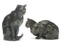 Cat Bronze Sculptures