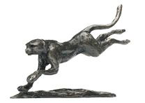 Cheetah Bronze Sculptures