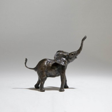 Bronze Elephant Sculpture: Large Baby Elephant by Jonathan Sanders