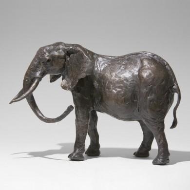 Bronze Elephant Sculpture: Large Elephant (Mother) by Jonathan Sanders