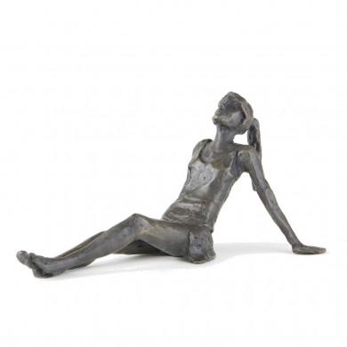 Wedgwood Museum Original Bronze Sculpture: Daydreaming Girl