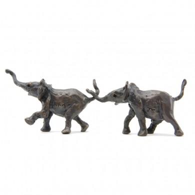 Bronze Elephant Sculpture: Follow Me Maquette by Jonathan Sanders