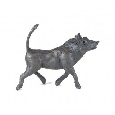 Bronze Warthog Sculpture: Trotting Baby Warthog by Jonathan Sanders