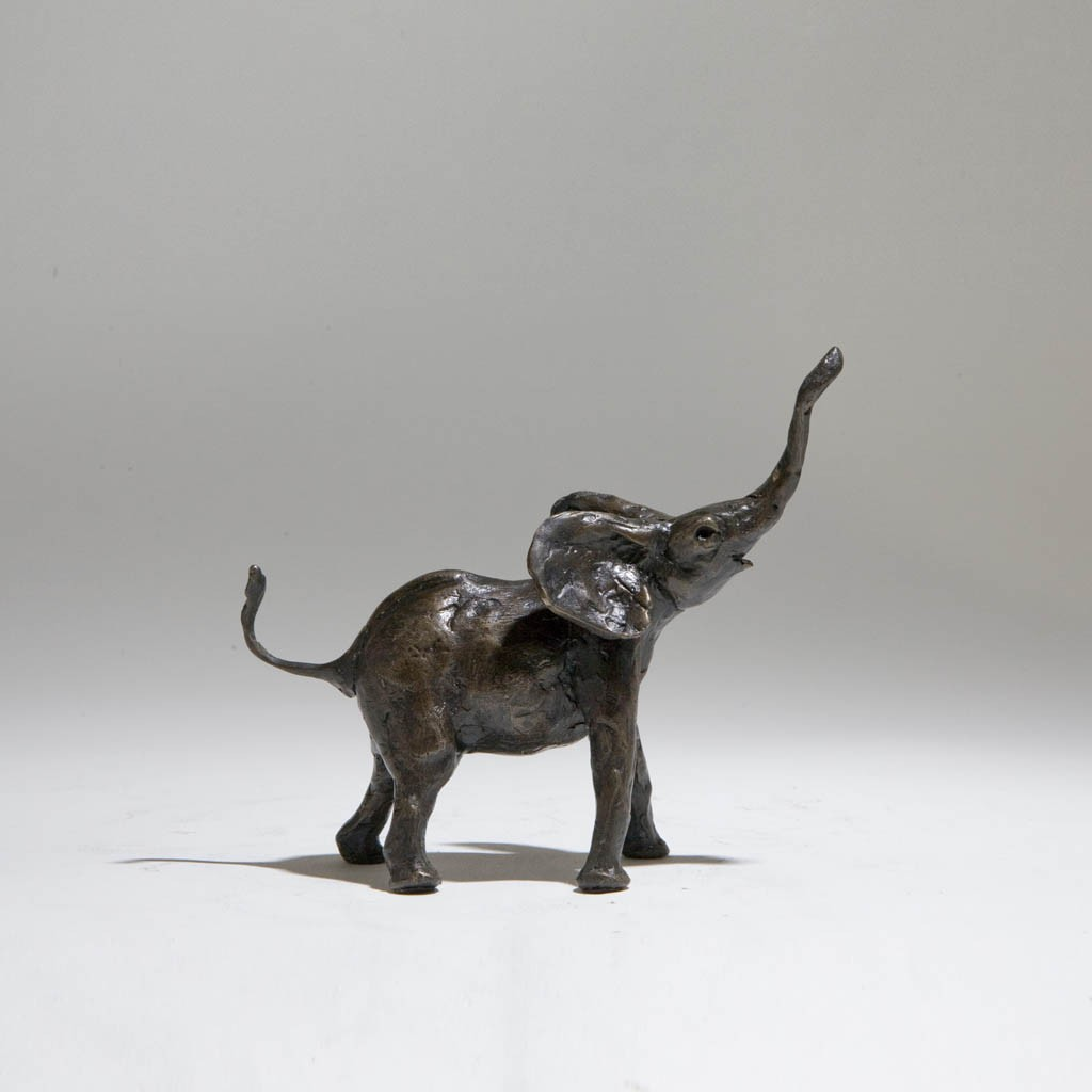 Bronze Elephant Sculpture: Large Baby Elephant by Jonathan