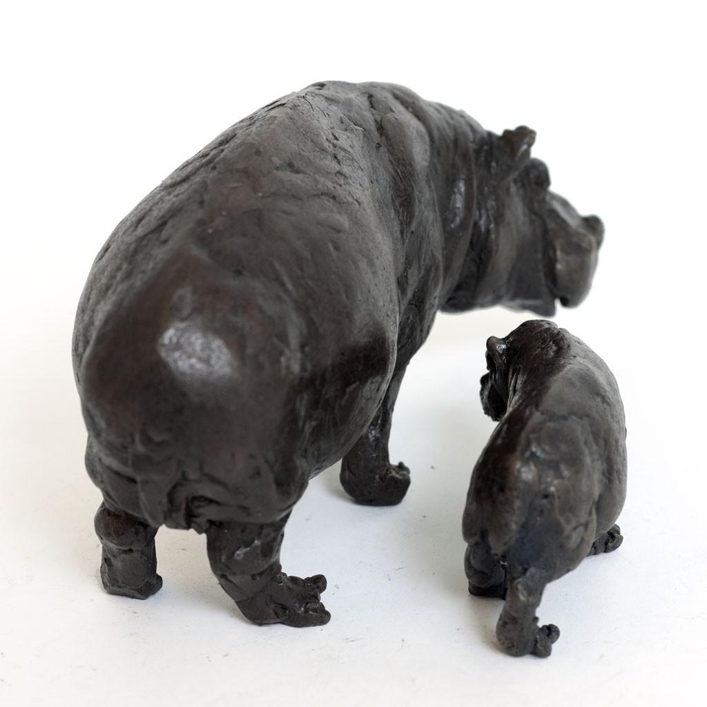 ... Bronze Hippopotamus Sculpture: Hippopotamus Mother and Baby by Jonathan  Sanders ...
