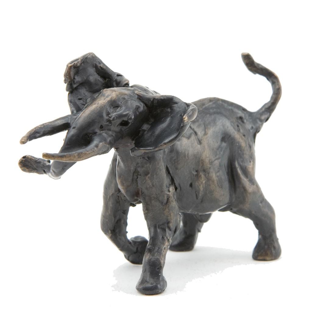 Bronze Elephant Sculpture: Bull Elephant Maquette by Jonathan Sanders
