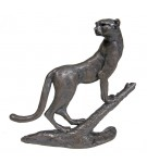 Bronze Cheetah Sculpture: Cheetah on Branch by Jonathan Sanders
