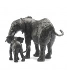 Bronze Elephant Sculpture: Elephant Mother and Baby II by Jonathan Sanders