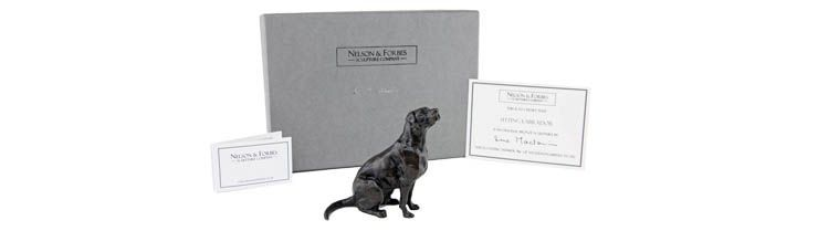8th Wedding Anniversary Gift Ideas Bronze Labrador Sculptre